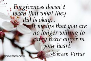 Forgiveness is a loving act for yourself. Love yourself.